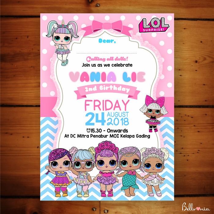 Jual Undangan Ulang Tahun Lol Dolls 01 Kota Sukabumi Bellvania