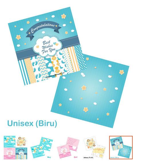 Jual Kartu Ucapan Kelahiran Bayi Kartu Untuk Bayi Greeting Card