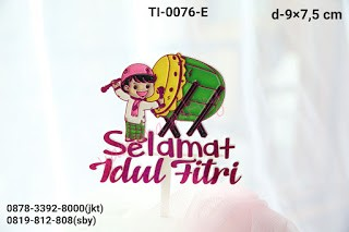 Jual Ti 0076 E Cake Topper Tulisan Selamat Idul Fitri Tabuh Bedug