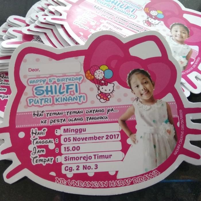 Jual Undangan Ulang Tahun Anak Tema Hello Kitty Kota Kediri