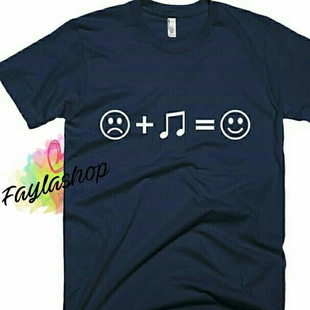 Jual Kaos Tshirt Keren Unik Emoji Kaos Musik Bikin Senang