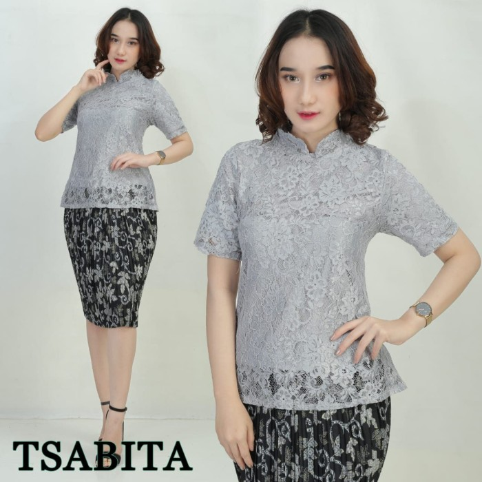 Model Baju Brokat Silver