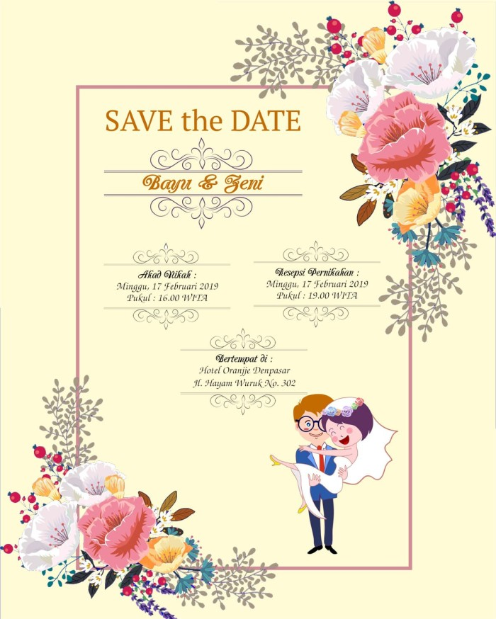 Jual Undangan Pernikahan Digital E Invitation Simple Animation