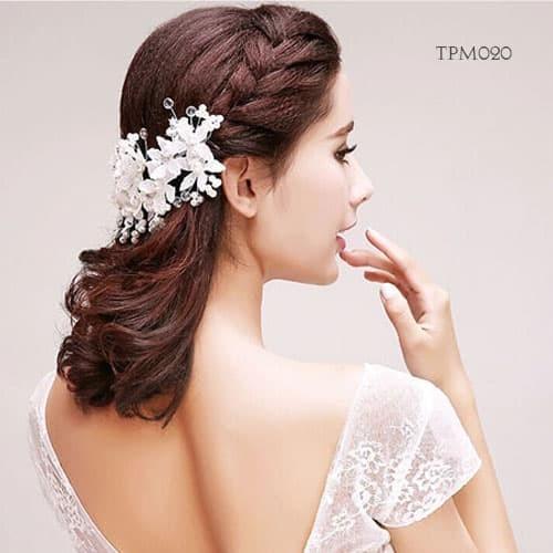 Jual Aksesoris Sanggul Pesta Bridal Modern L Tiara Rambut Bunga