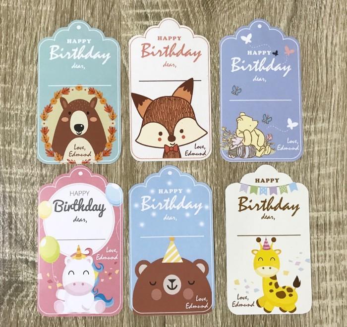 Jual Birthday Tag Kartu Ucapan Ulang Tahun Lucu Custom Birthday Card
