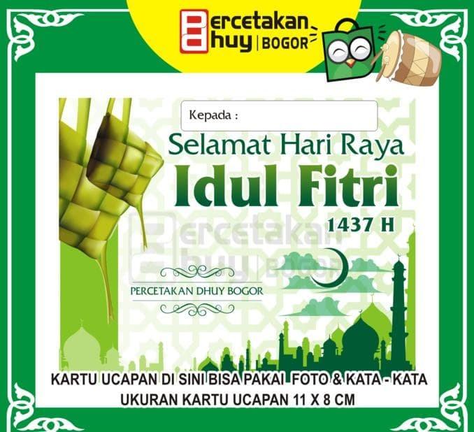 Jual Cetak Kartu Ucapan Lebaran Kode 002 Sissystore Jakarta