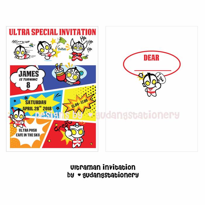 Jual Kartu Undangan Ulang Tahun Ultraman Birthday Invitation Card