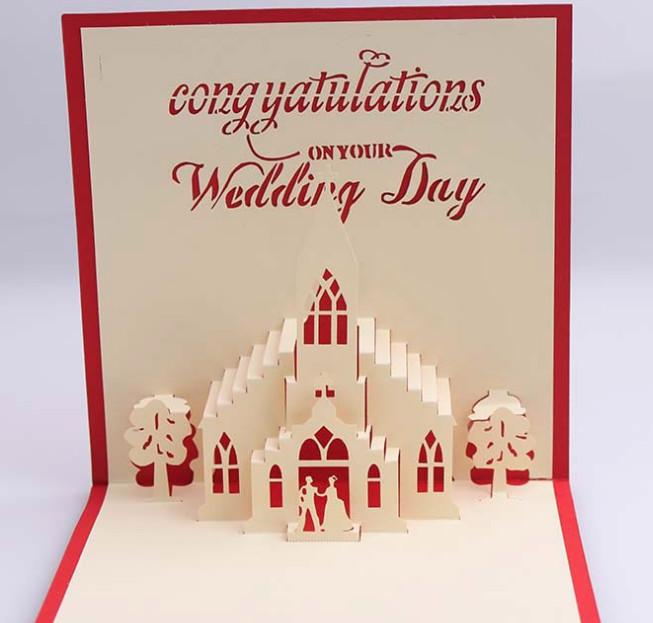 Jual Kartu Ucapan Wedding Day Pernikahan Gift Card 3d 4d Kado Gift