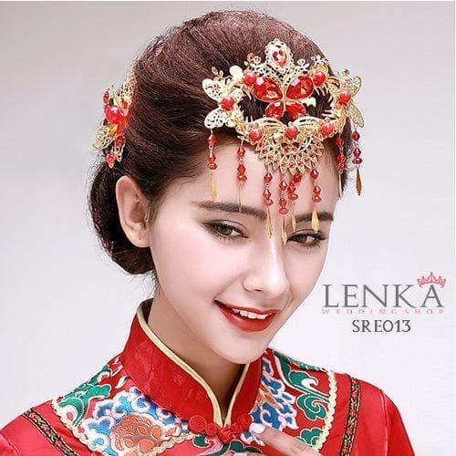 Jual Aksesoris Sanggul Pesta Imlek L Mahkota Sirkam Emas China Lenka