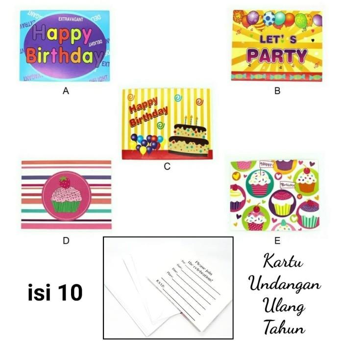 Jual Kartu Undangan Birthday Ulang Tahun Dewasa Isi 10 Amplop