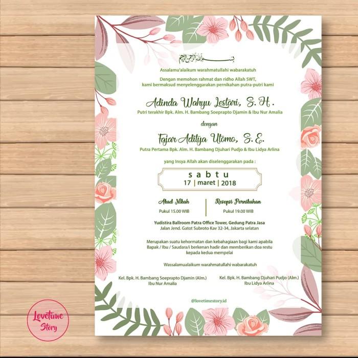 Jual Undangan Pernikahan Undangan Digital E Invitation Undangan
