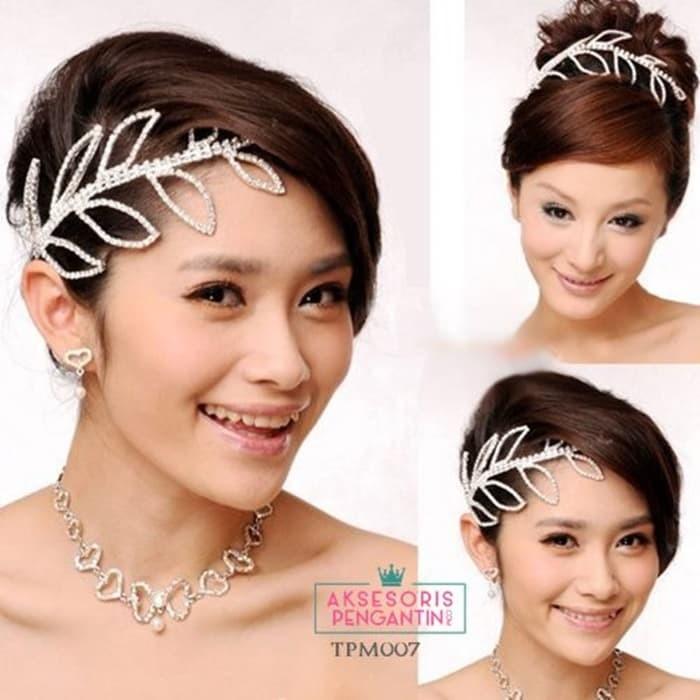 Jual Tiara Pengantin Modern L Aksesoris Sanggul Rambut Wedding Tpm