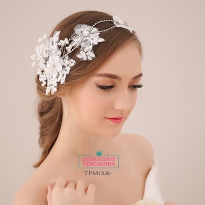 Jual Aksesoris Sanggul Pengantin Modern L Tiara Rambut Wedding Tpm