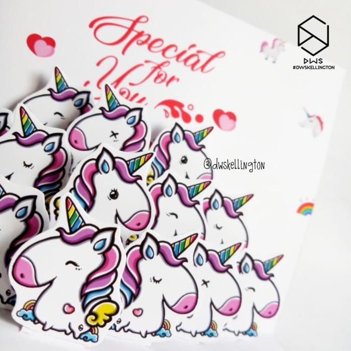Jual Doodle Unicorn Kartu Ucapan Ulang Tahun Pop Up Card Hadiah Unik