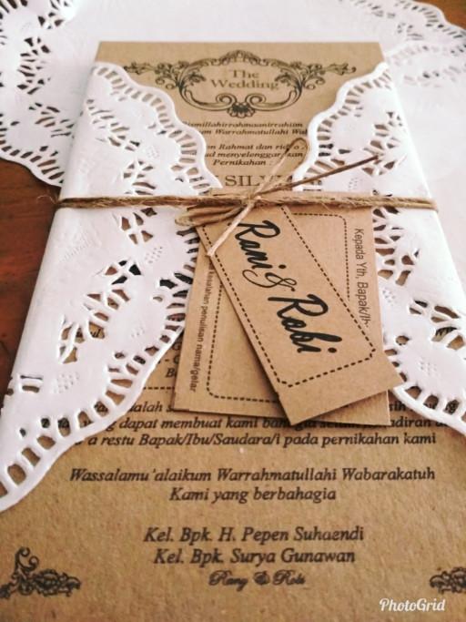 Jual Kartu Undangan Pernikahan Unik Vintage Murah Custom Bogor