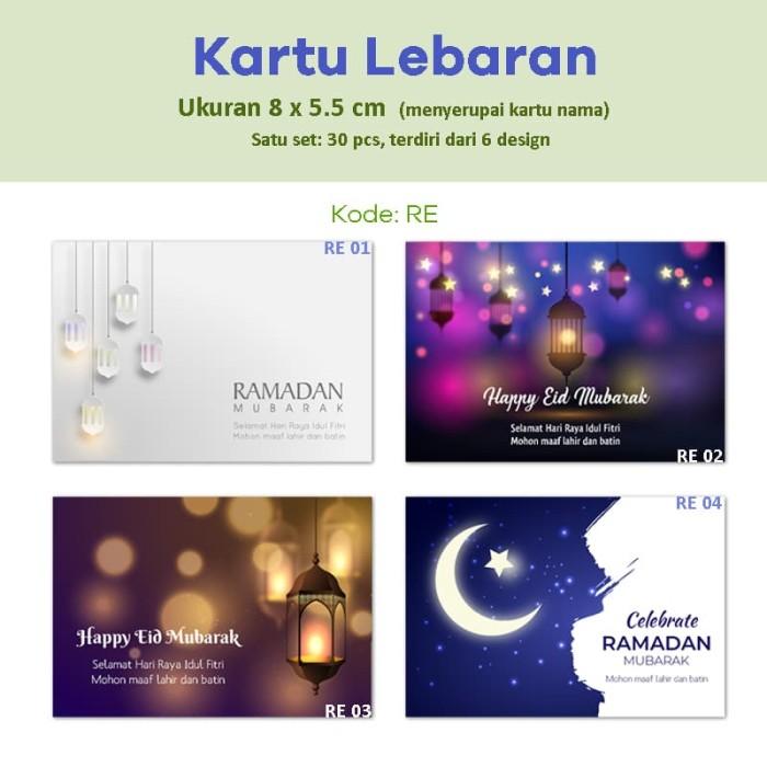 Jual Kartu Lebaran Kartu Ucapan Selamat Idul Fitri Mohon Maaf