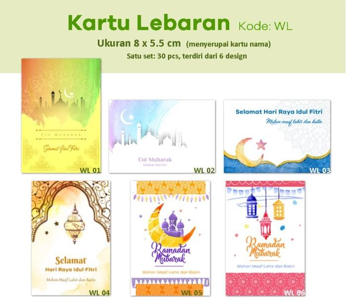 Jual Kartu Lebaran Kartu Ucapan Selamat Idul Fitri Bingkisan