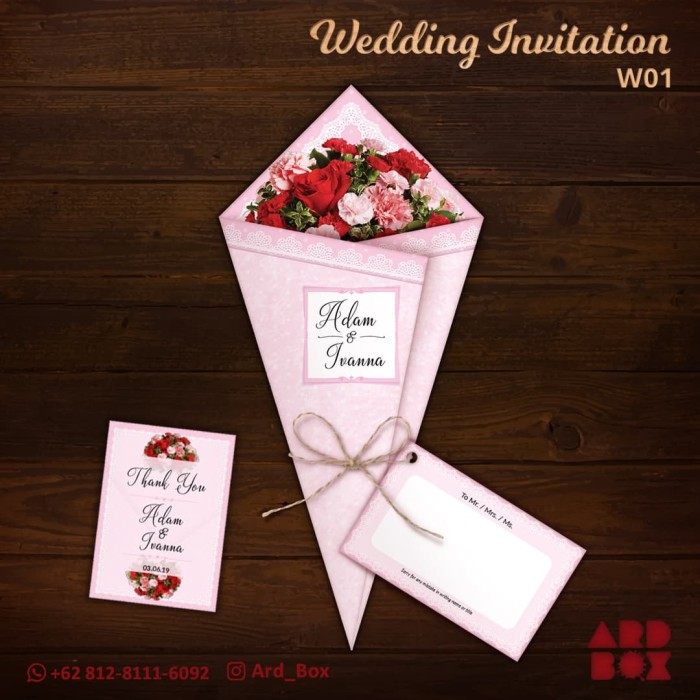 Jual Kartu Undangan Pernikahan Kreatif Unik Murah Wedding Invitation