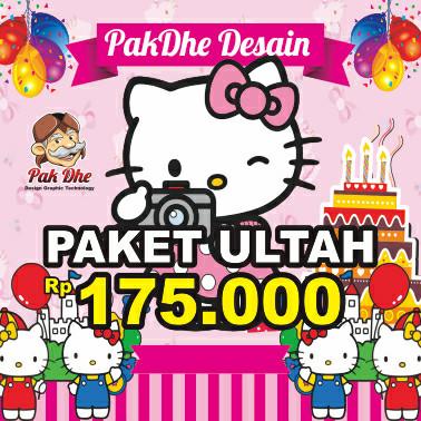 Jual Paket Undangan Ulang Tahun Anak Karakter Hello Kitty Toko