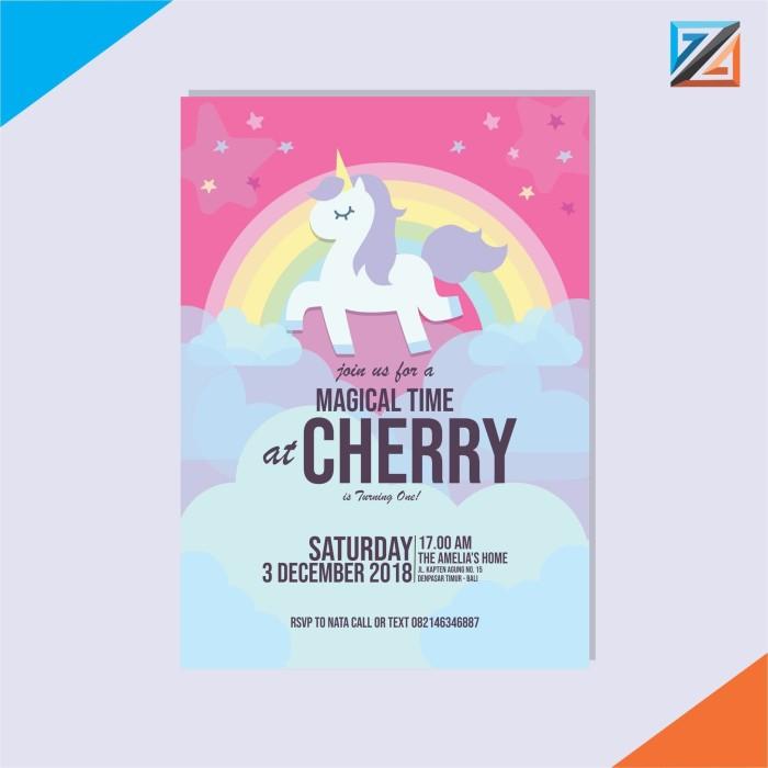 Jual Kartu Undangan Ulang Tahun Unicorn Kota Denpasar Ztar