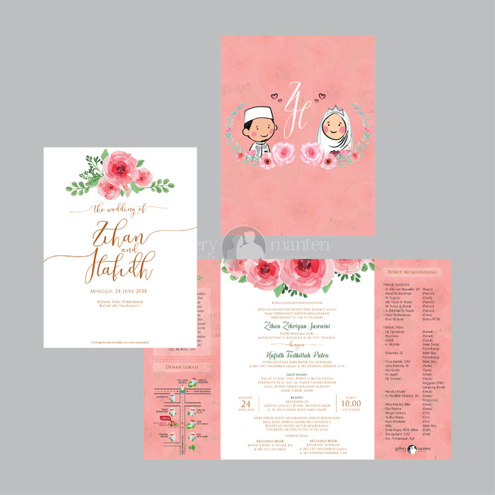 Jual Jasa Desain Undangan Pernikahan Unik Elegan Zihan Hafidh