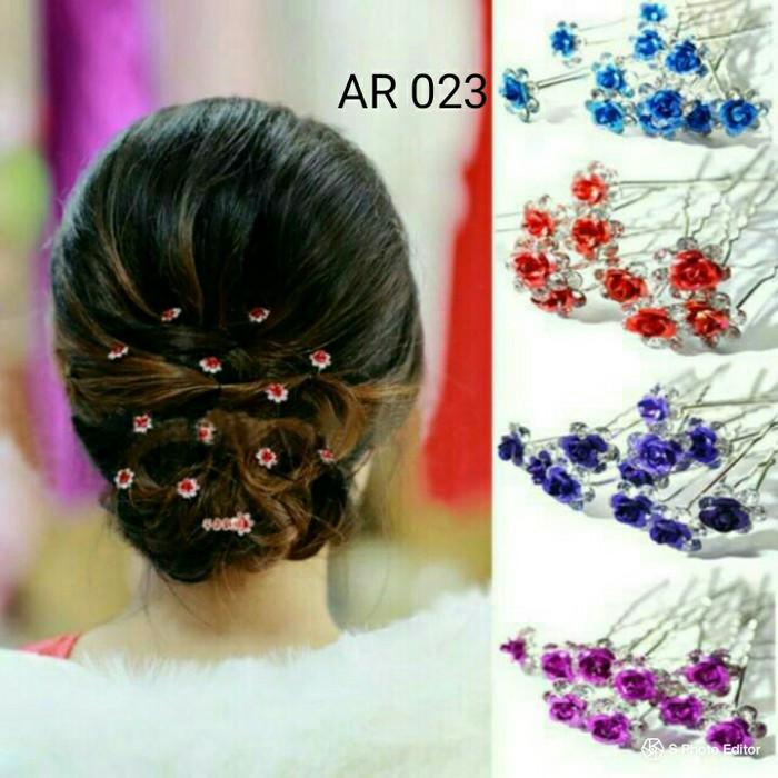 Jual Ar 023 Hairpin Mawar Tusuk Sanggul Pesta Kab Demak Sanggul