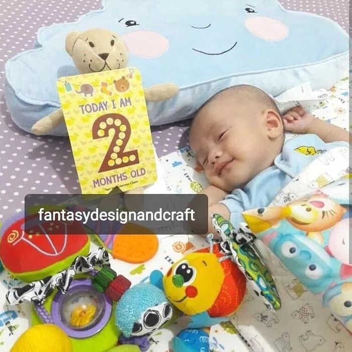 Jual 45 In 1 Milestones Baby Cards Kartu Hadiah Kado Bayi Baru Lahir