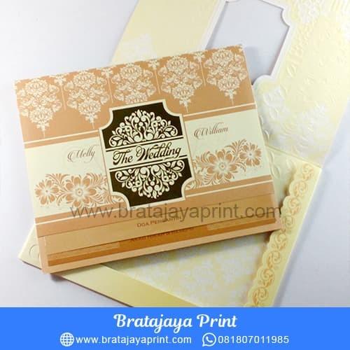 Jual Undangan Pernikahan Emas Hardcover Royal 012 Kota Blitar