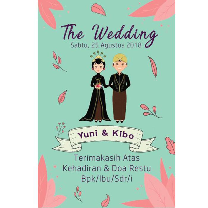 Jual Kartu Ucapan Souvenir Pernikahan Undangan Nikah Dki