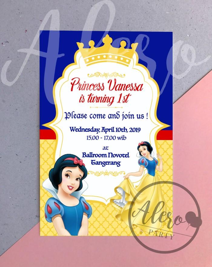 Jual Kartu Undangan Ulang Tahun Anak Snow White Birthday Card