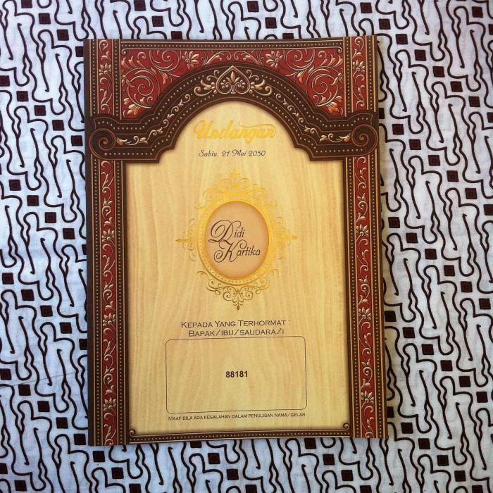 Jual Undangan Pernikahan Khitan Batik Jawa Vintage 88181 Kab