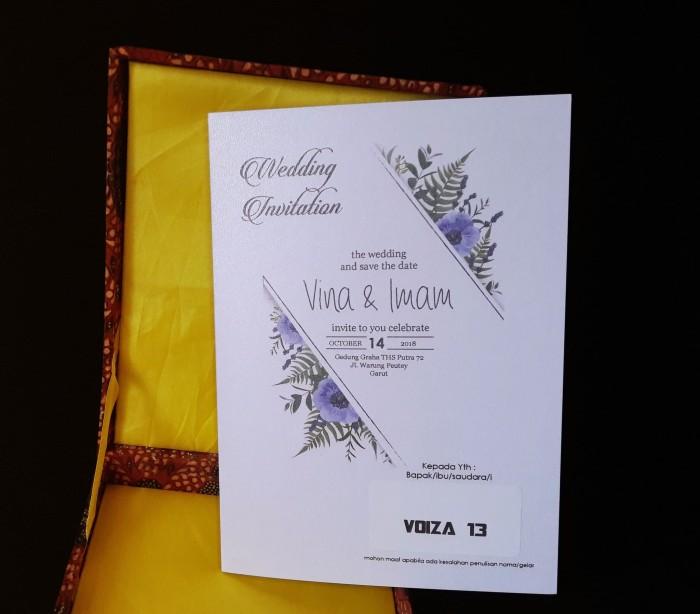 Jual Undangan Pernikahan Vintage Voiza 13 Lucu Unik Bahan Kertas