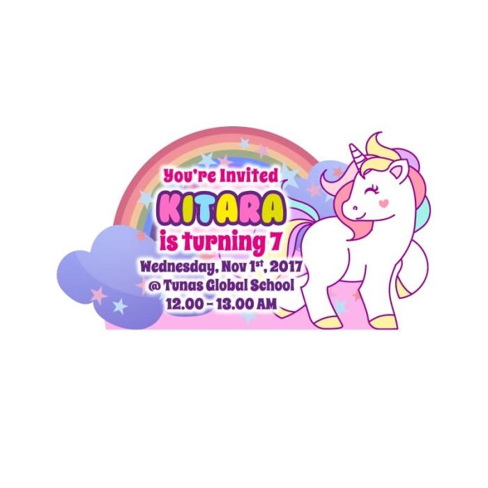 Jual Kartu Undangan Ulang Tahun Unicorn 2 Kota Bogor Brandons
