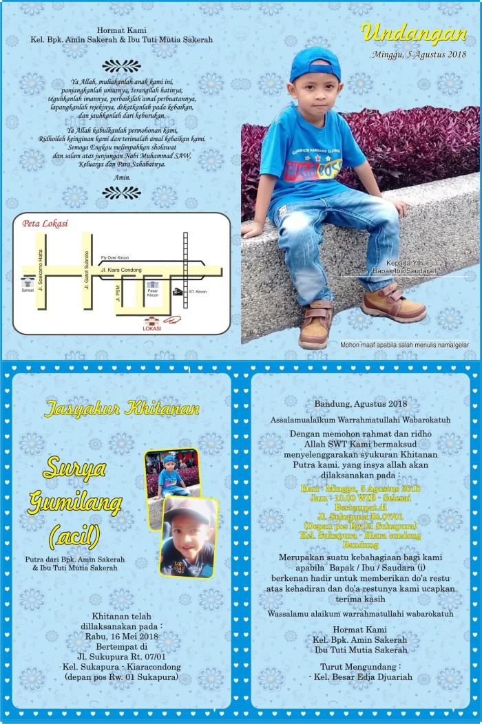 Jual Kartu Undangan Khitanan Ulang Tahun Kota Bandung Rasev