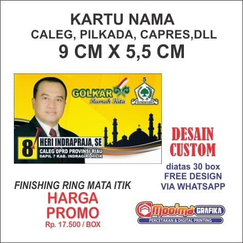 Jual Kartu Nama Caleg Pilkada Capres Dll Kab Bandung Mooima