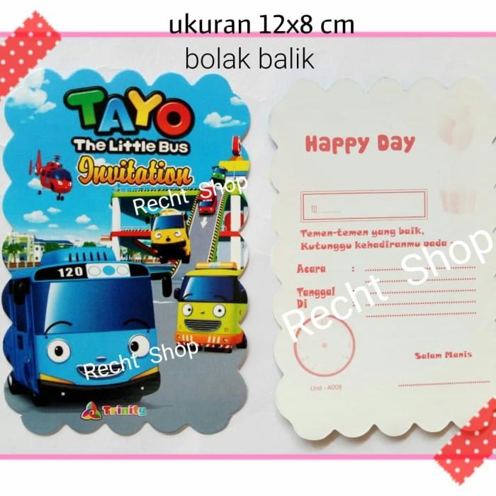 Jual Undangan Ulang Tahun Karakter Tayo The Little Bus Kota Bekasi