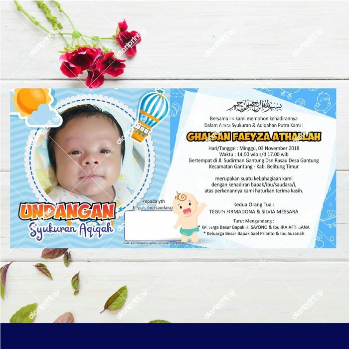 Jual Undangan Syukuran Aqiqah 04 Kab Belitung Timur Diariprint