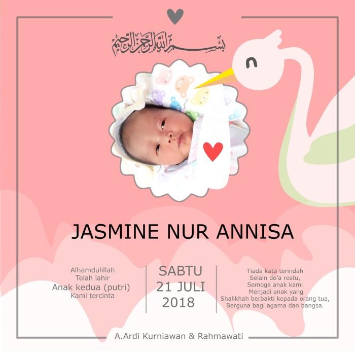 Jual Ucapan Aqiqah Kartu Ucapan Aqiqah Merah Muda Dki Jakarta