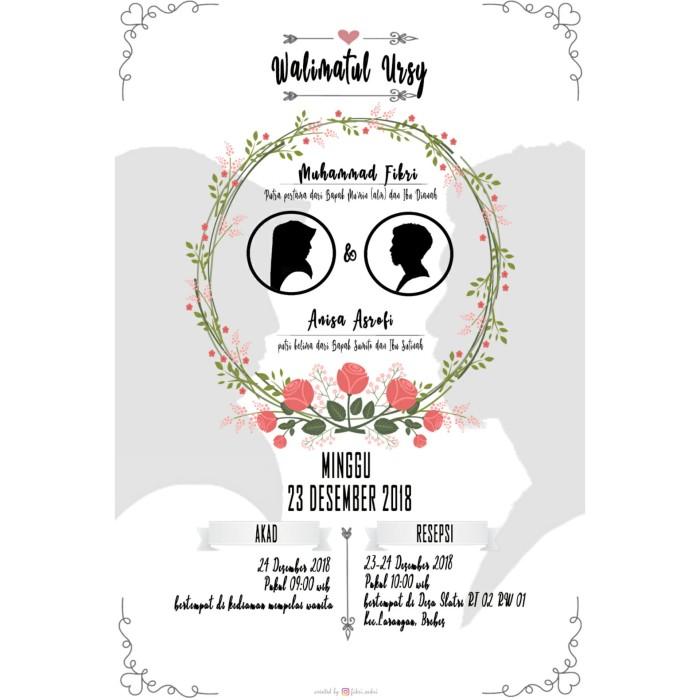 Jual Undangan Digital Undangan Pernikahan Undangan Unik Wedding