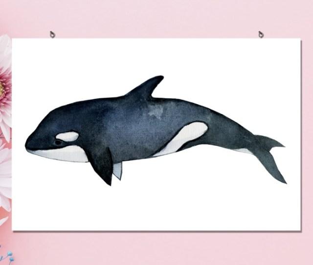 Jual Poster Kayu Hiasan Dinding Ikan Paus Killer Wall Decor