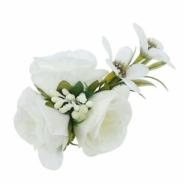 Jual Hiasan Rambut Headpiece Pesta Sanggul Konde Pengantin White La Flora Kota Tangerang Selatan Esmiavita Tokopedia