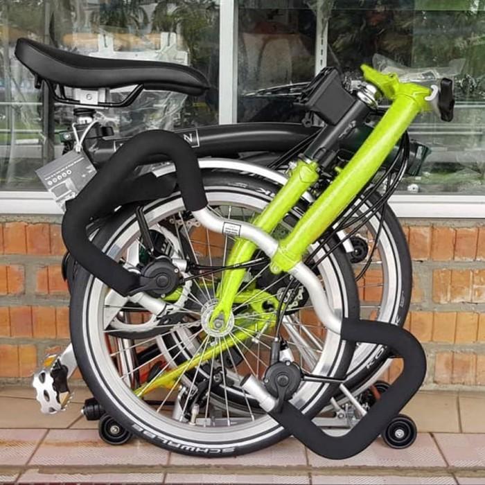 Jual Sepeda Lipat BROMPTON P6L 2019 - BLACK-LIME GREEN ...