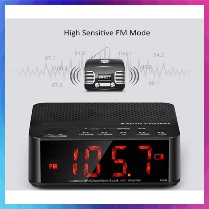 Jual Speaker Mini Bluetooth Radio Alarm Clock Jam Weker Meja Jakarta Utara Sakhiroh S 46 Tokopedia