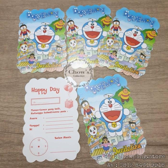 Jual Kartu Undangan Ultah Doraemon Undangan Ulang Tahun Doraemon