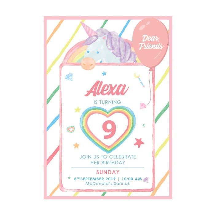 Jual Kartu Undangan Ulang Tahun Anak Birthday Invitation Premium