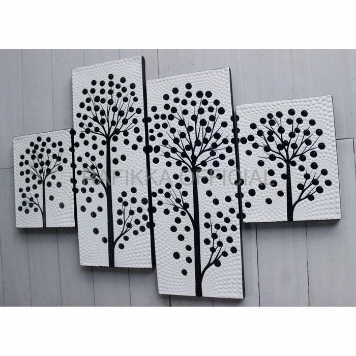 Jual Dekorasi Rumah Pajangan Rumah Lukisan Dekoratif Hitam Putih Dot