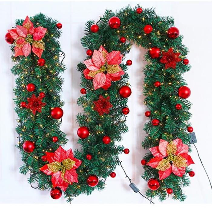 Jual New 2 7m Christmas Decor Ornaments Christmas Tree Garland Kota Depok Upstart Shop Tokopedia