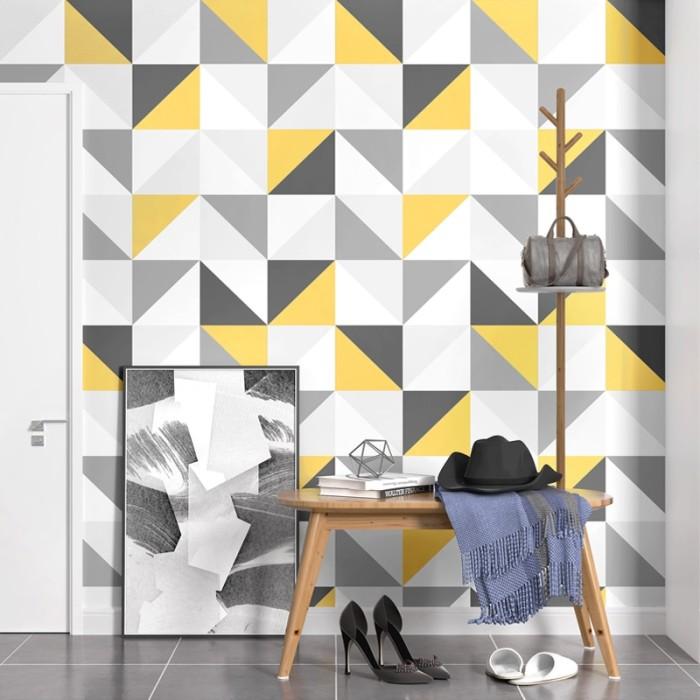 Jual Nordic Modern Geometric Lattice Square Wallpaper For Walls Roll 3d Jakarta Barat Wasa Store Tokopedia