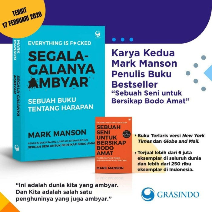 Jual Buku Segala Galanya Ambyar Everythings Is F Ckid Mark
