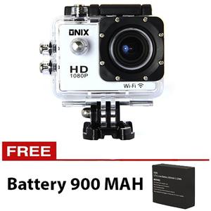 WIFI Onix Kogan Action Camera 1080p DV508C 12MP Putih + Battery 900 Ma